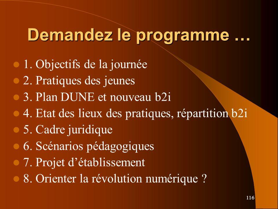Demandez le programme …