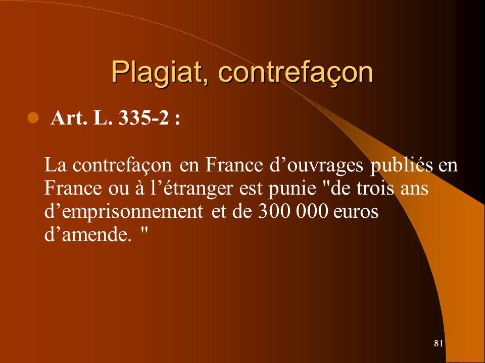Plagiat, contrefaçon