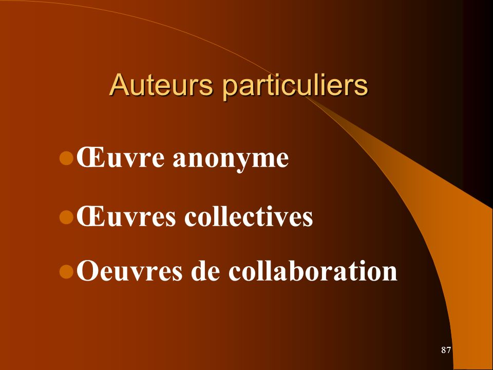 Oeuvres de collaboration