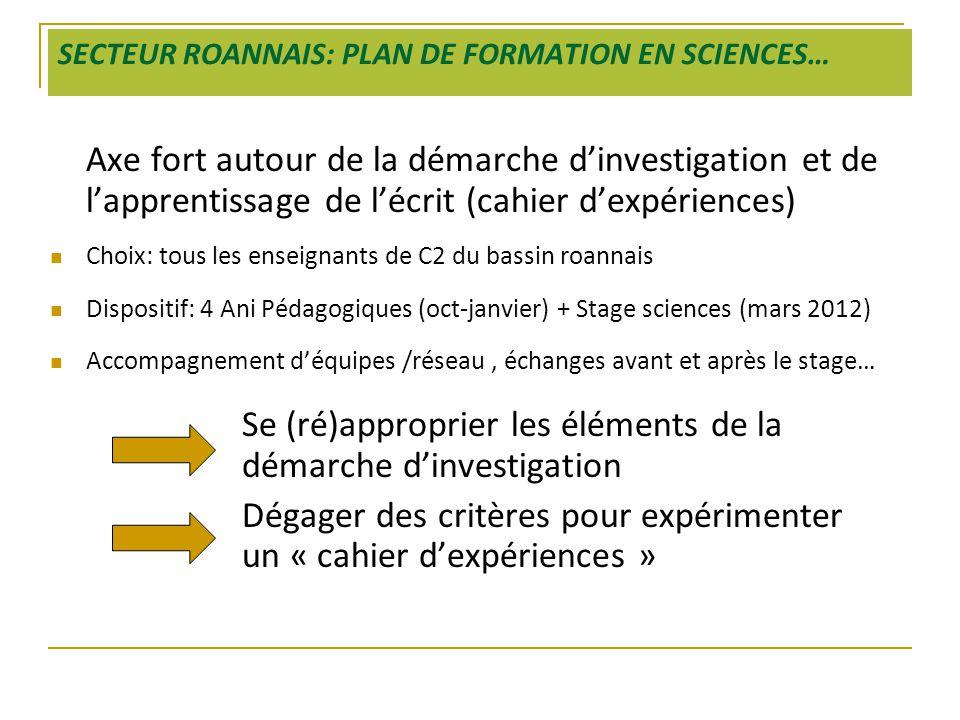SECTEUR ROANNAIS: PLAN DE FORMATION EN SCIENCES…