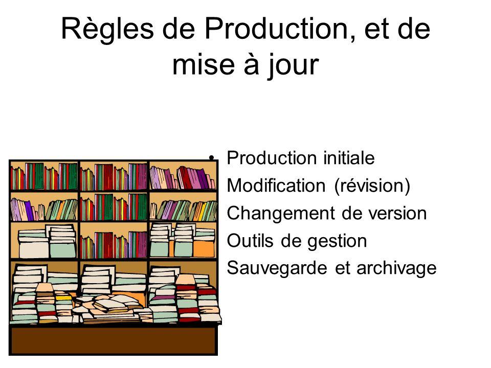 Règles de Production, et de mise à jour