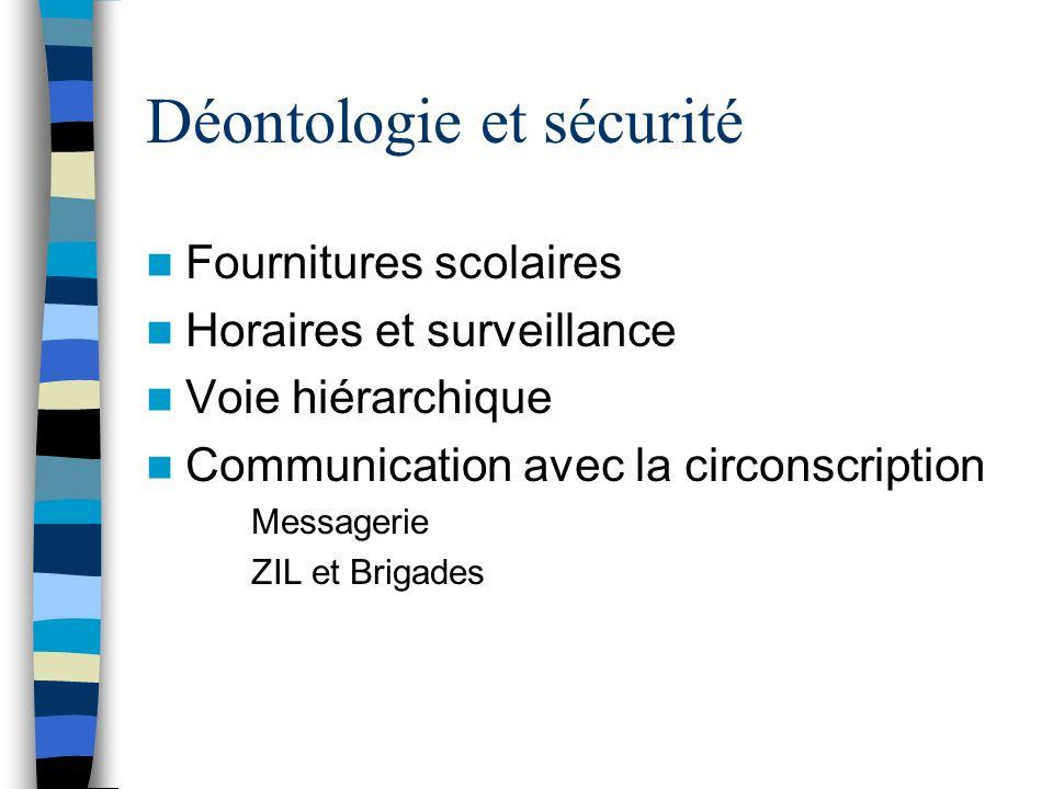 Déontologie et sécurité
