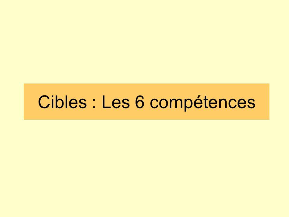 Cibles : Les 6 compétences