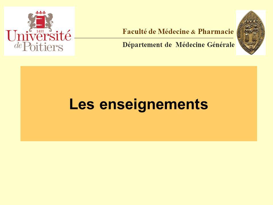 Les enseignements Faculté de Médecine & Pharmacie