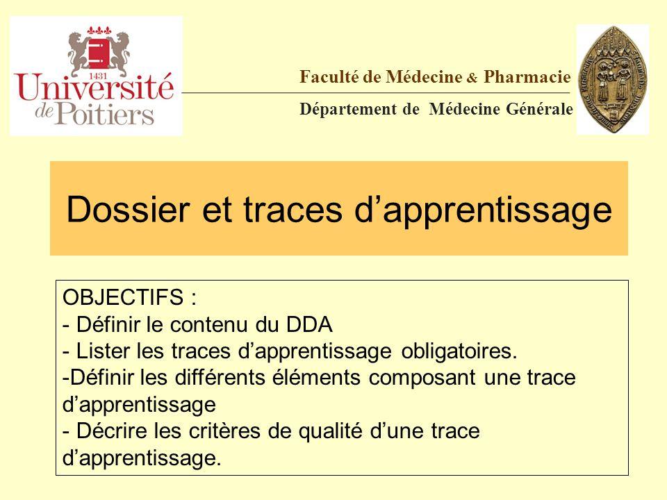 Dossier et traces d'apprentissage