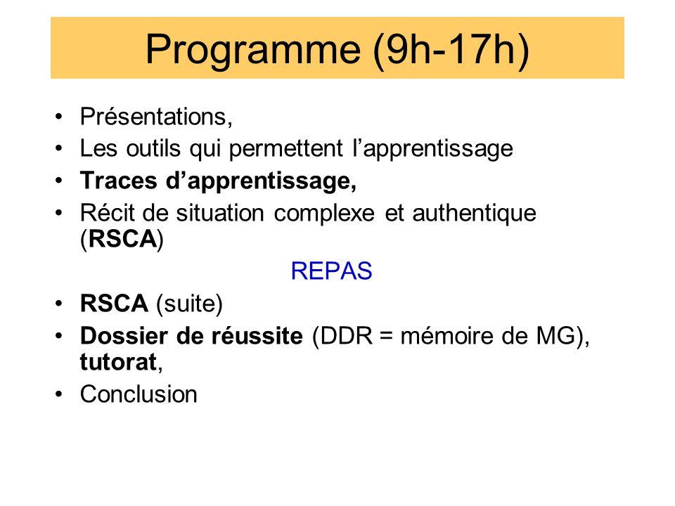 Programme (9h-17h) Présentations,