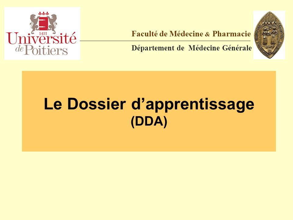 Le Dossier d'apprentissage (DDA)