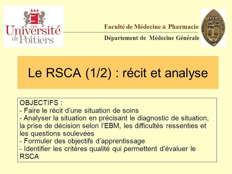Le RSCA (1/2) : récit et analyse