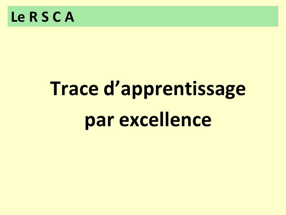 Trace d'apprentissage