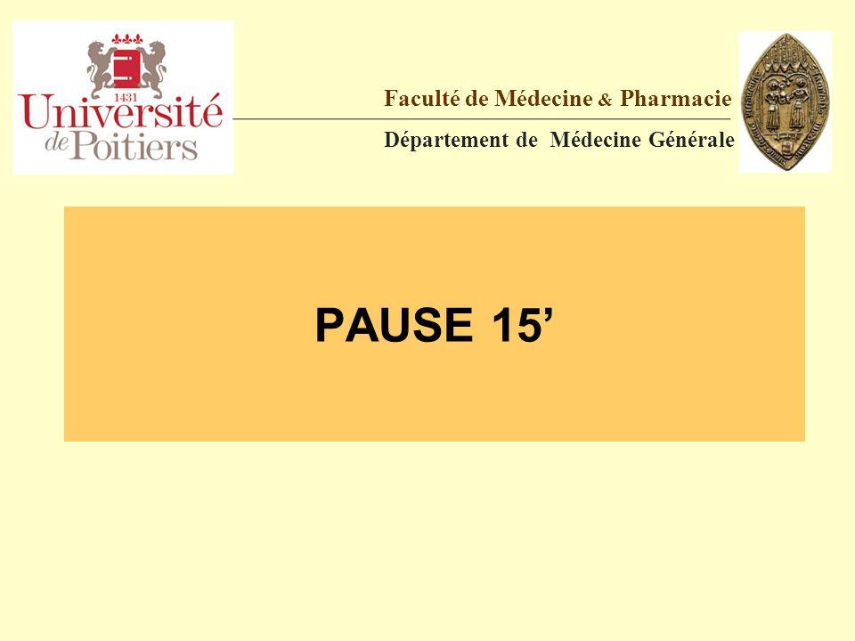 PAUSE 15' Faculté de Médecine & Pharmacie