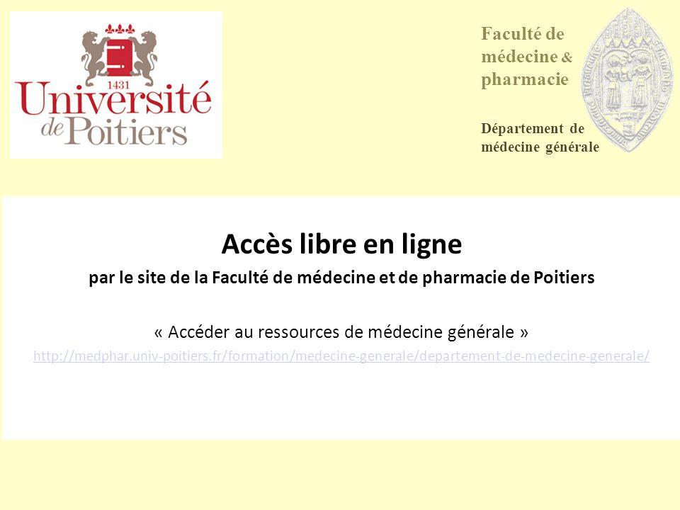 par le site de la Faculté de médecine et de pharmacie de Poitiers