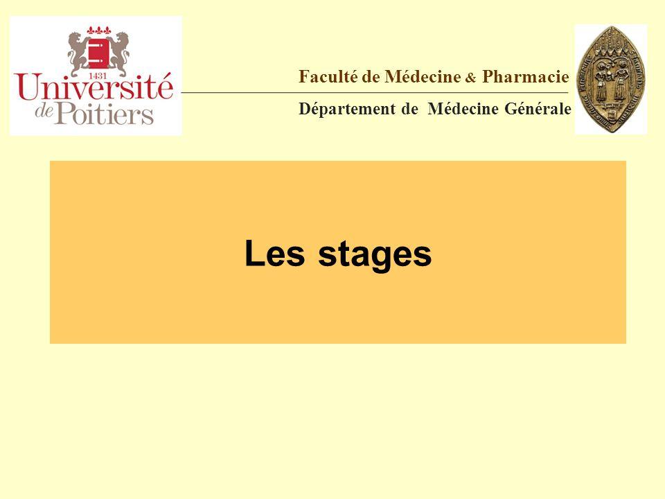 Les stages Faculté de Médecine & Pharmacie