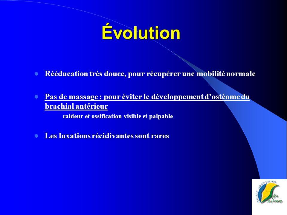 Évolution Rééducation très douce, pour récupérer une mobilité normale
