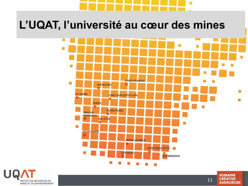 L'UQAT, l'université au cœur des mines