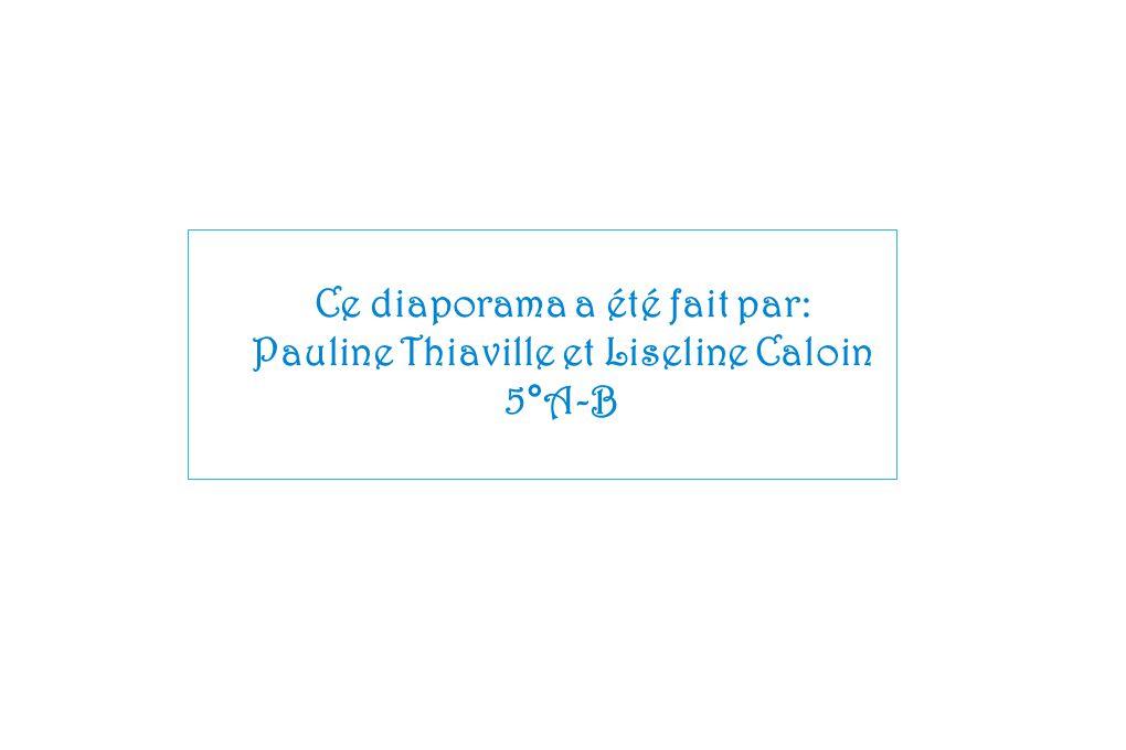 Ce diaporama a été fait par: Pauline Thiaville et Liseline Caloin
