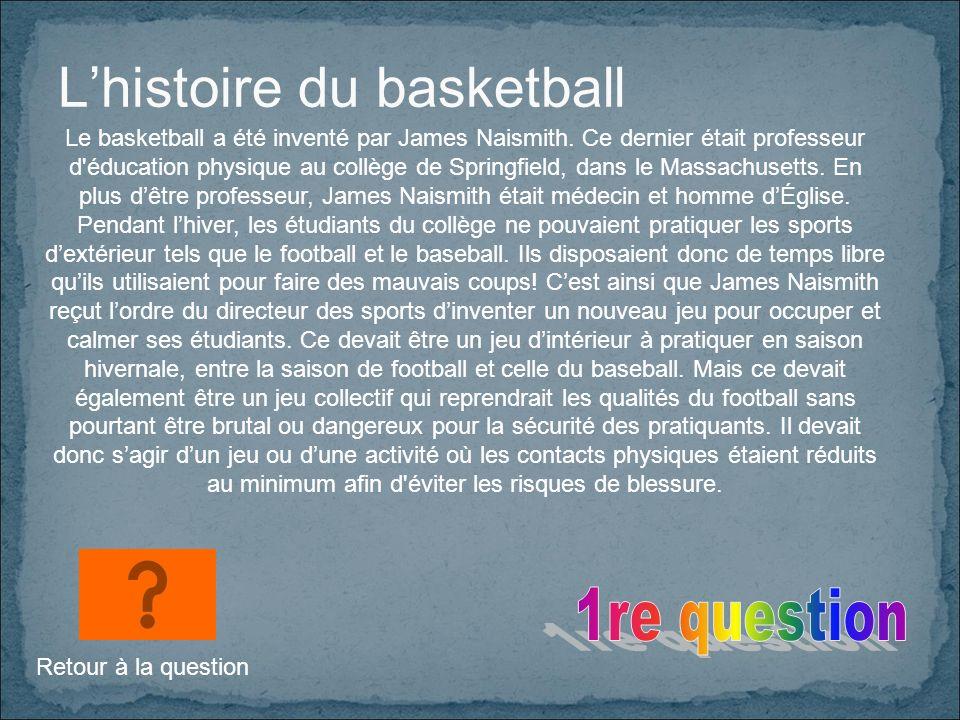 L'histoire du basketball