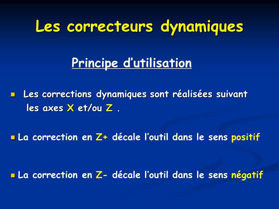 Les correcteurs dynamiques