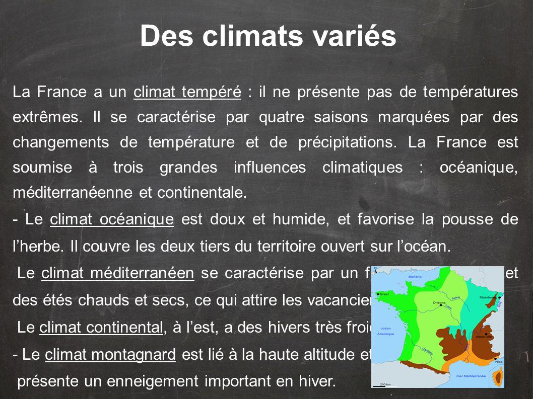 Des climats variés