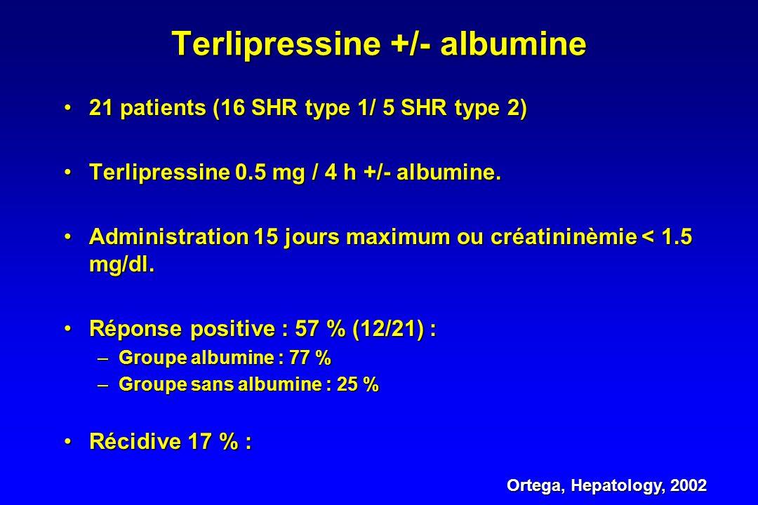 Terlipressine +/- albumine