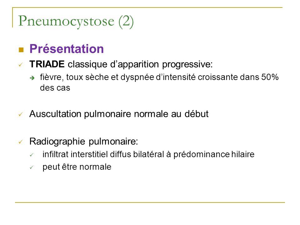 Pneumocystose (2) Présentation