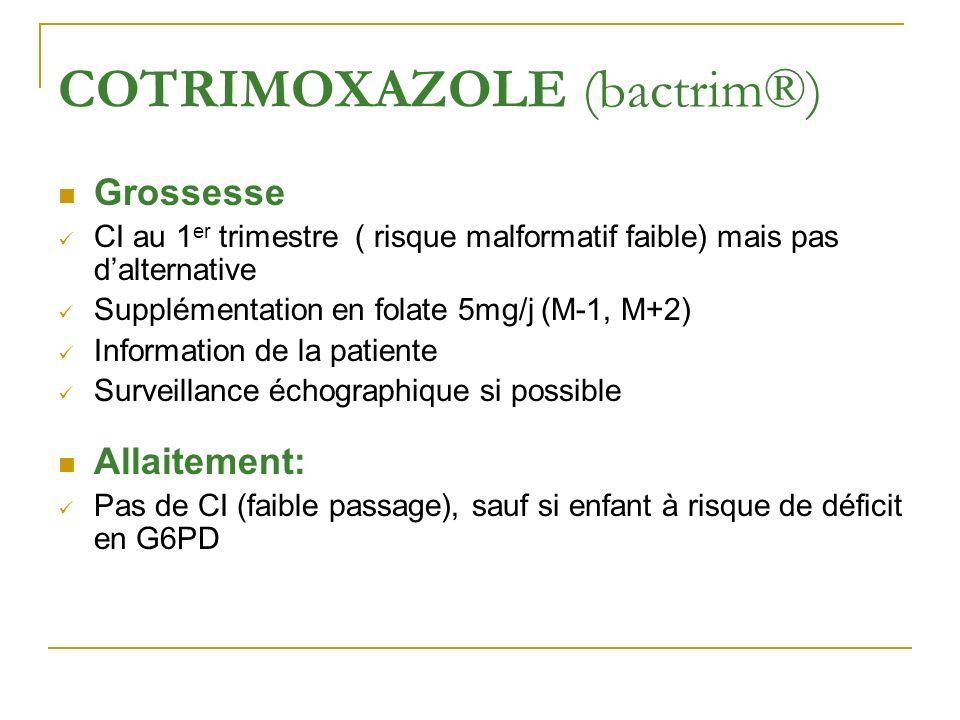 COTRIMOXAZOLE (bactrim®)