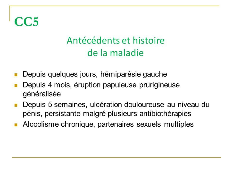 Antécédents et histoire de la maladie