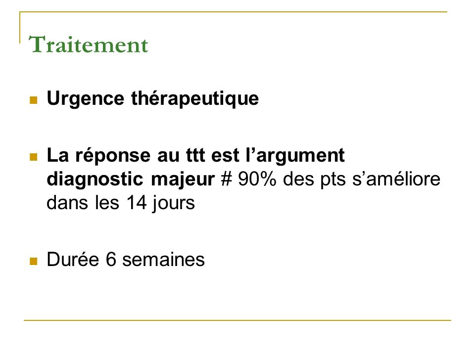 Traitement Urgence thérapeutique