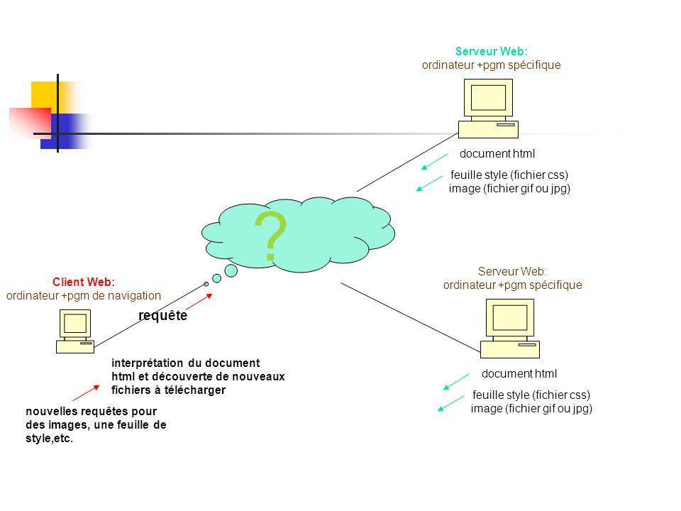 requête Serveur Web: ordinateur +pgm spécifique document html