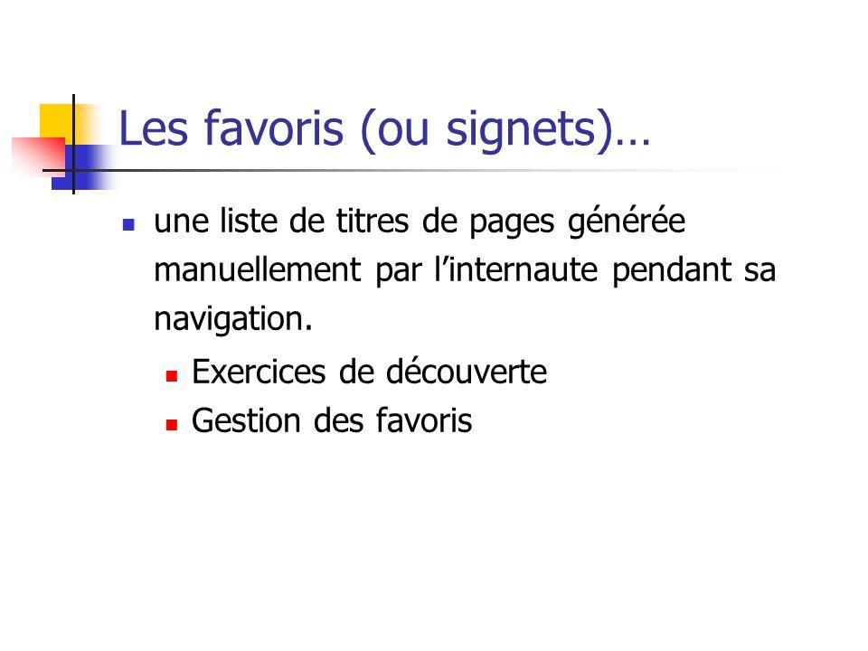 Les favoris (ou signets)…
