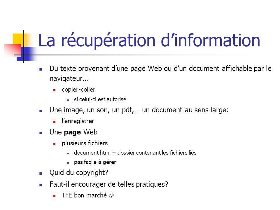 La récupération d'information