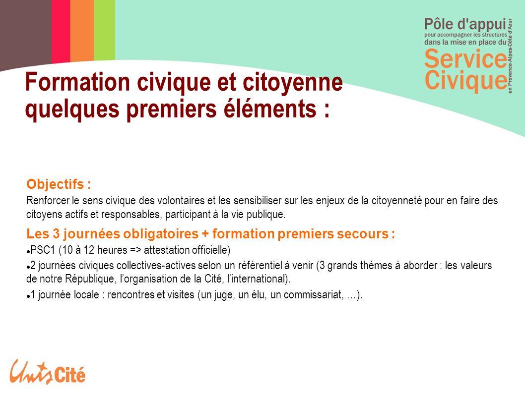 Formation civique et citoyenne quelques premiers éléments :