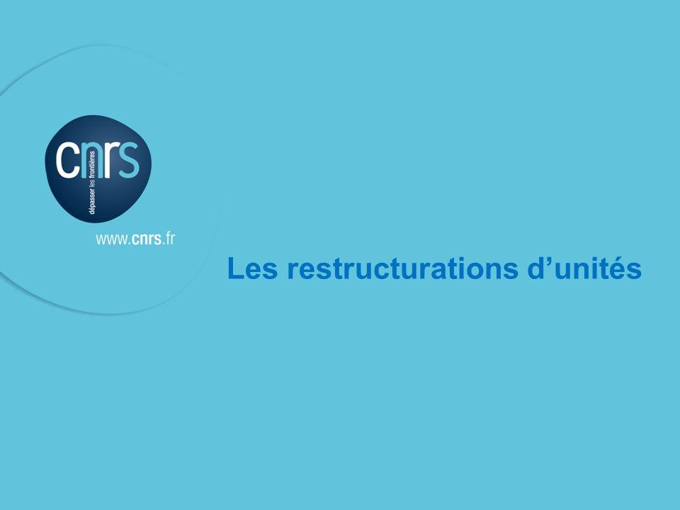 Les restructurations d'unités