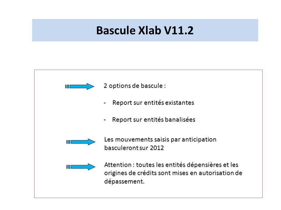Bascule Xlab V11.2 2 options de bascule :