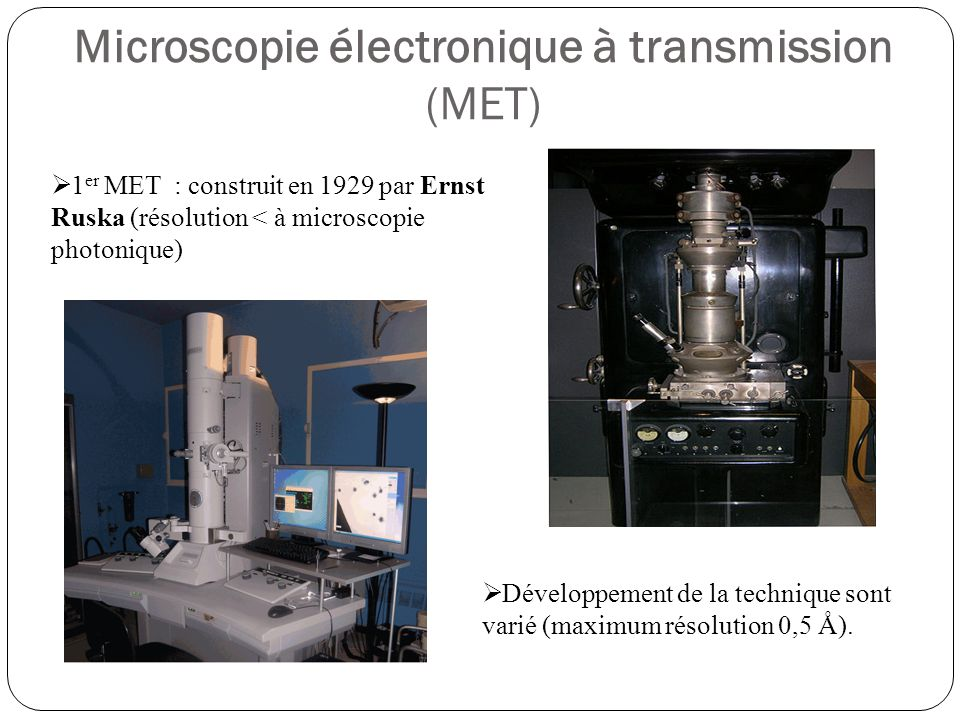 Microscopie électronique à transmission (MET)