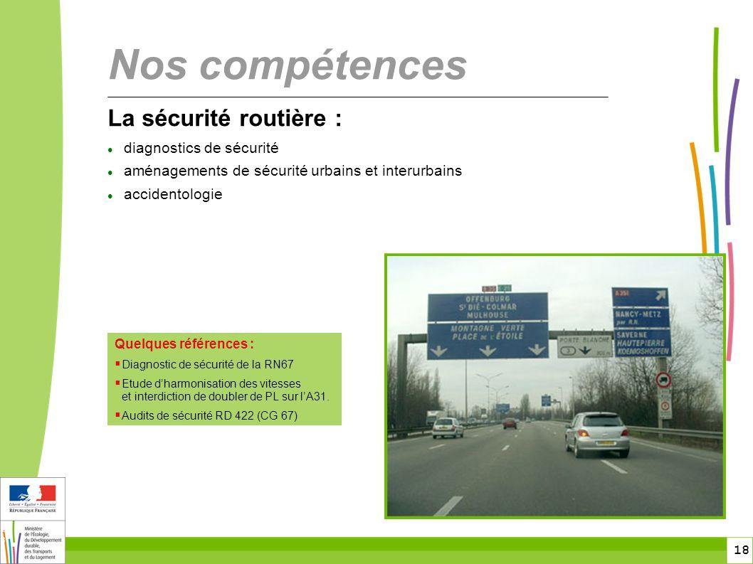 Nos compétences La sécurité routière : diagnostics de sécurité
