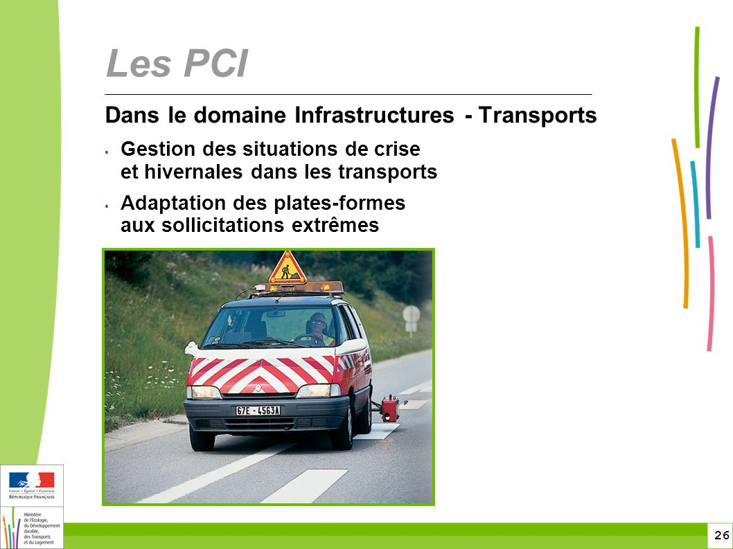 Les PCI Dans le domaine Infrastructures - Transports