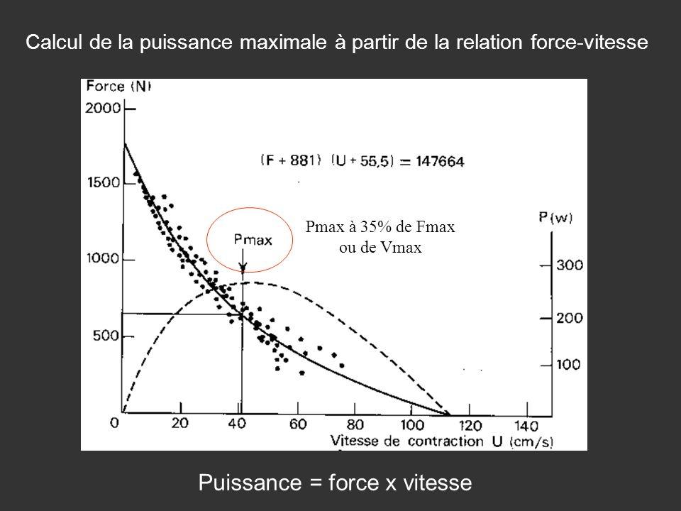 Puissance = force x vitesse