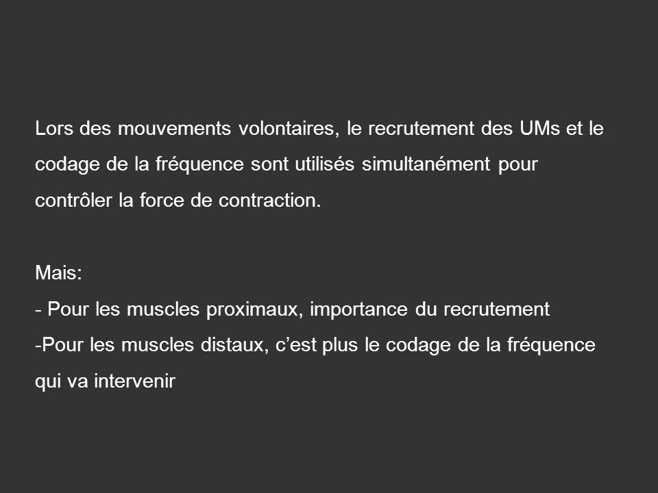 Lors des mouvements volontaires, le recrutement des UMs et le