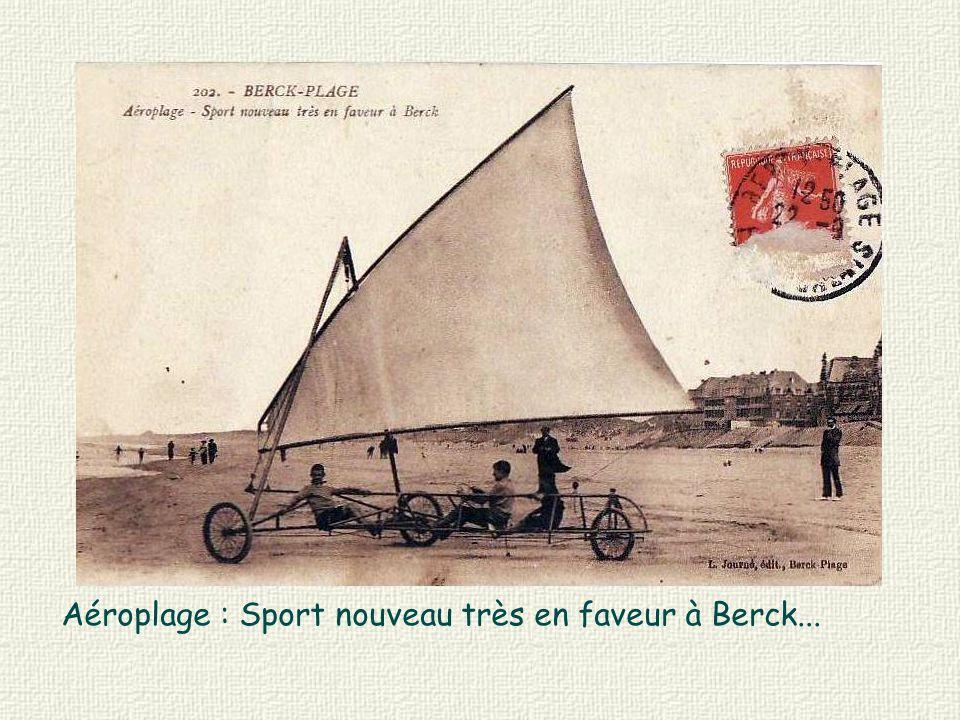 Aéroplage : Sport nouveau très en faveur à Berck...