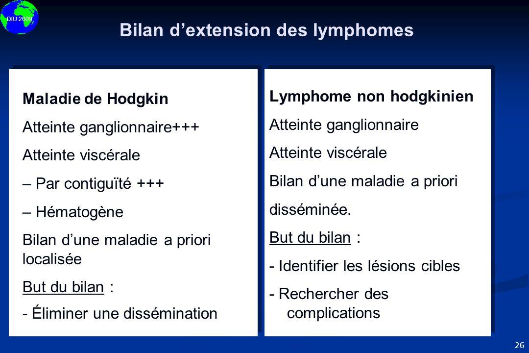 Bilan d'extension des lymphomes