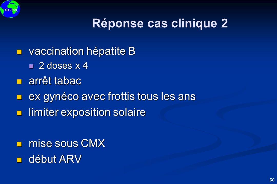 Réponse cas clinique 2 vaccination hépatite B arrêt tabac