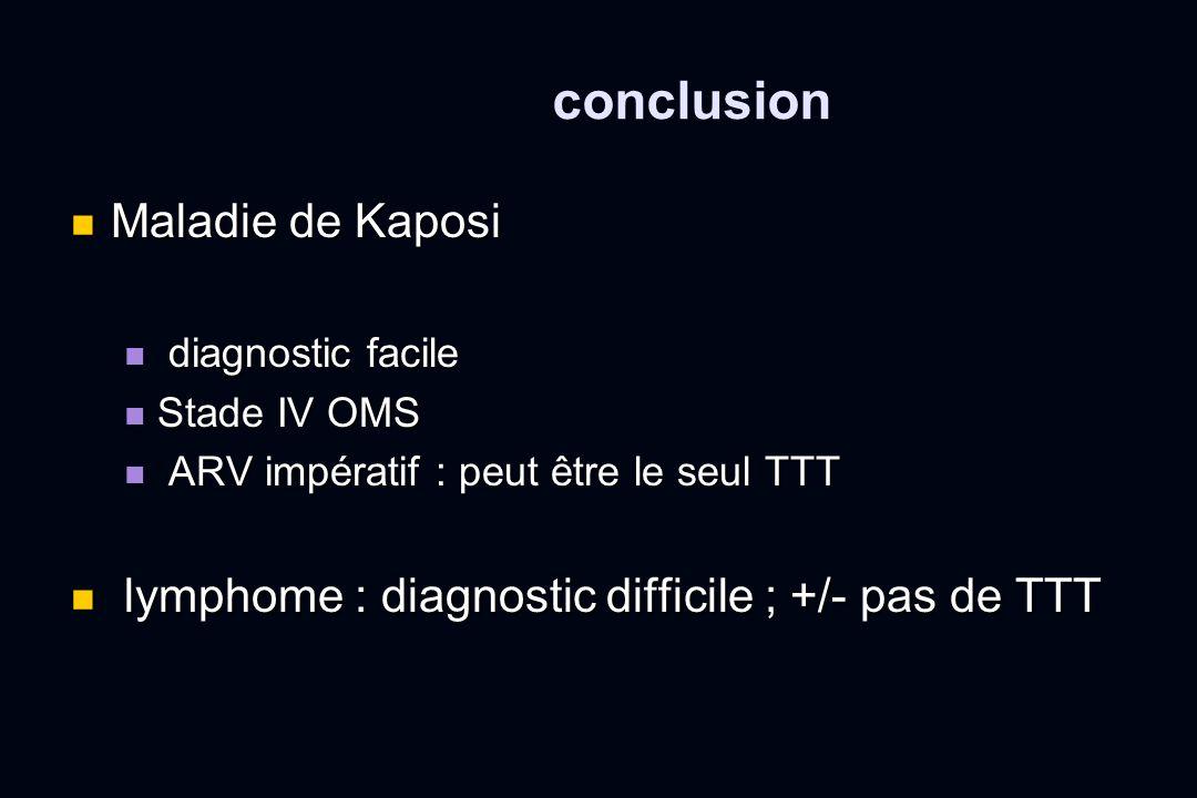 conclusion Maladie de Kaposi