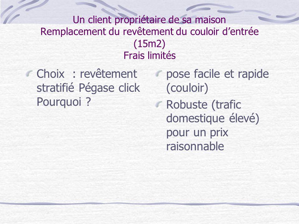 Choix : revêtement stratifié Pégase click Pourquoi