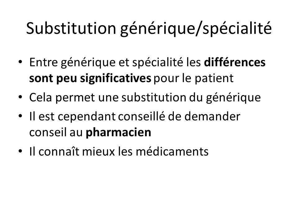 Substitution générique/spécialité