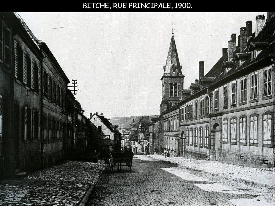 BITCHE, RUE PRINCIPALE, 1900.