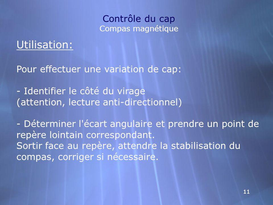 Contrôle du cap Compas magnétique