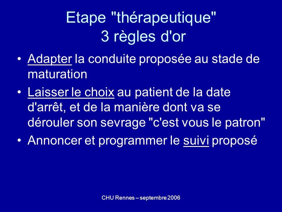 Etape thérapeutique 3 règles d or