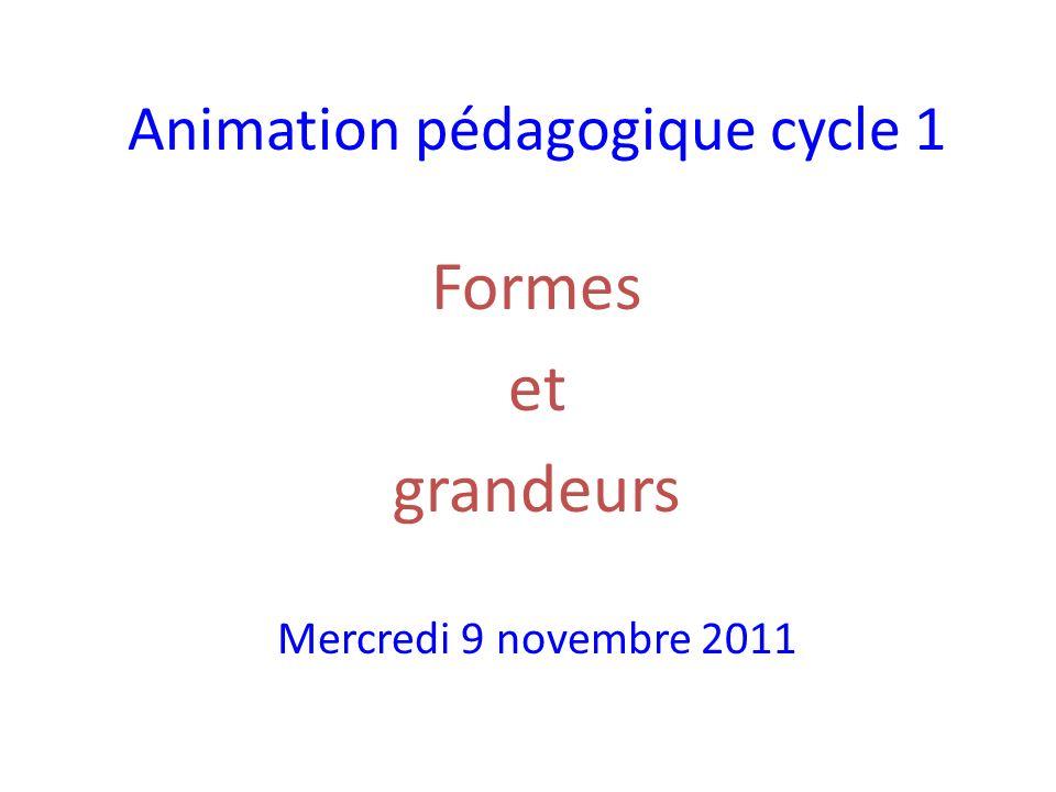 Animation pédagogique cycle 1