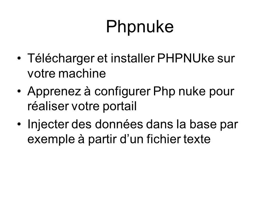 Phpnuke Télécharger et installer PHPNUke sur votre machine