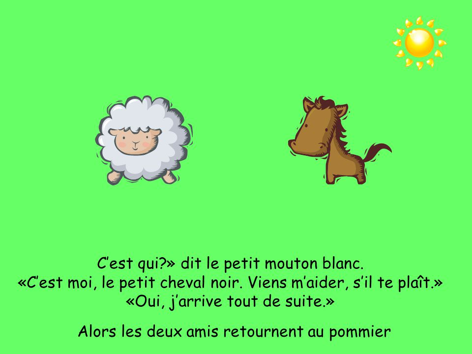 C'est qui » dit le petit mouton blanc.